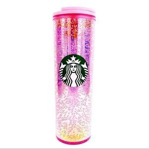 🆕 Starbucks 2020 Holiday Pink Bubble Cup Tumbler